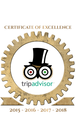 Certificate of excellence for gamescape from trip advisor