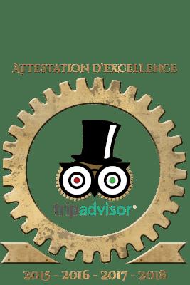 Logo trip advisor attestaition d'excellence