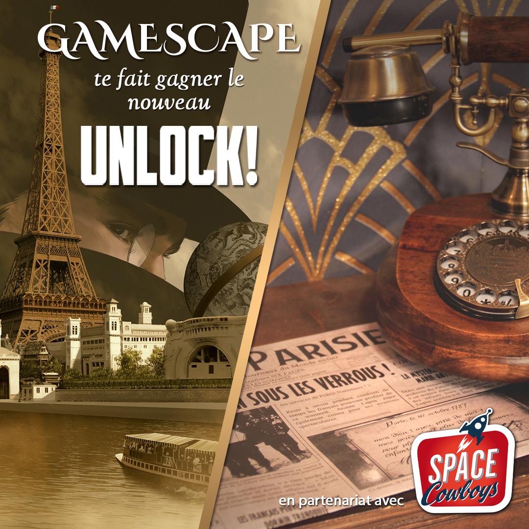 Gamescape te fait gagner le nouveau jeu Unlock